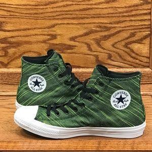 Converse CTAS Hi Black Volt Green Shoes
